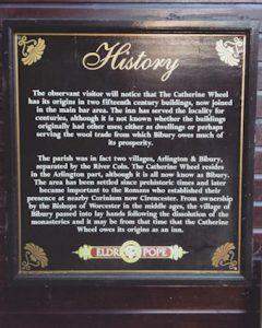 History notice Catherine wheel bibury